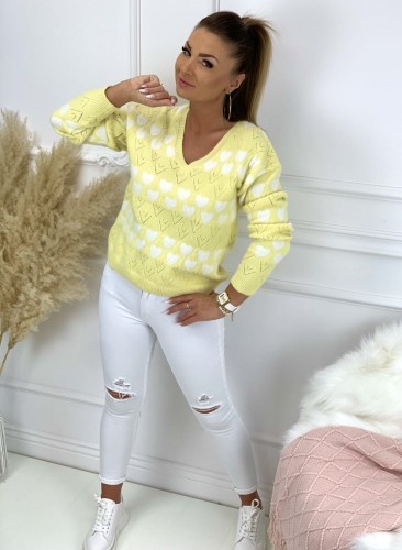 Sweter HEART YELLOW